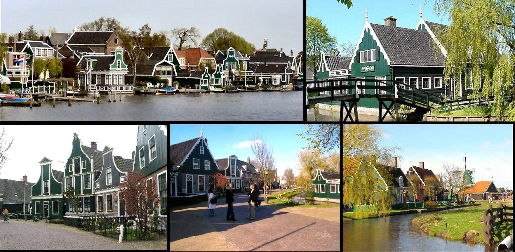 zaanse schans collage