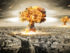 EHC0JJ Danger of nuclear war illustration with multiple explosions