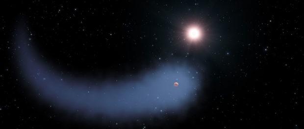 O planetă cum nu s-a mai văzut: deține o coadă uriașă, precum o cometă!
