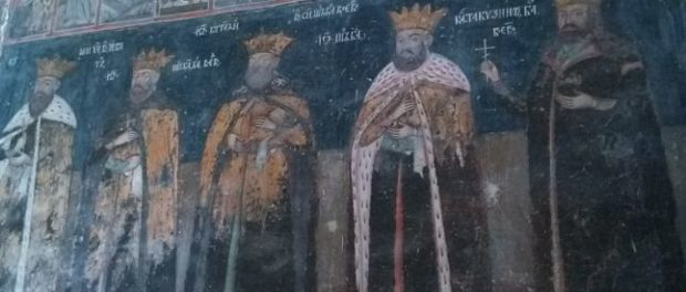 Nouă domnitori români pictați în Biserica Domnească din Târgovişte – cea mai amplă galerie a unor chipuri de domnitori munteni