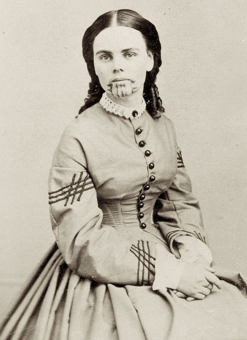 Olive Oatman, in anul 1863