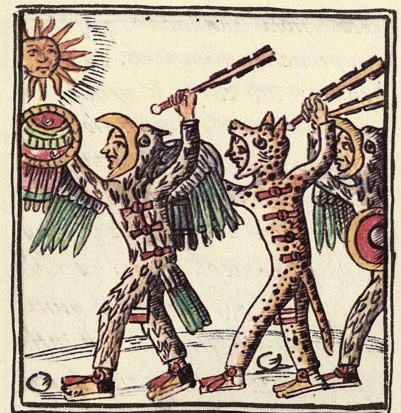 luptatori azteci, sec. XVI